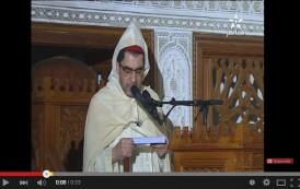 خطيب الجمعة يبكي أمام محمد السادس بسبب فاجعة طانطان