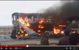 فاجعة احتراق حافلة ساتيام بطانطان ومقتل 42 طفلاً