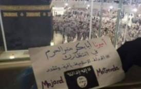 صورة. داعشيون يُعلنون من مكة مُبايعتهم للبغدادي لتسليمه 'مِنْبَرُ الحَرَم'