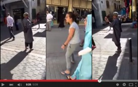 فيديو. شابة تُواجه شخصاً انتقد لباسها في الشارع العام بطنجة