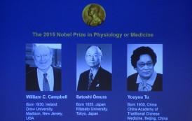 ثلاثة علماء يتقاسمون جائزة نوبل للطب لعام 2015