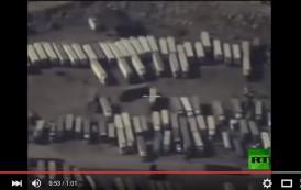 فيديو. وزارة الدفاع الروسية تكشف مرور صهاريج نفط لـ'داعش' نحو تركيا
