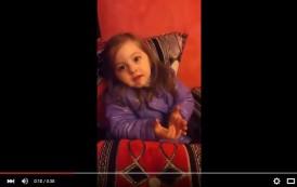 فيديو طريف . طفلة مغربية تتمنى الشفاء للملك محمد السادس