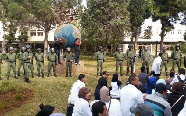 صور. الأمن يقتحم مراكز تكوين الأساتذة بالرباط والجديدة بأوامر من الحُكومة