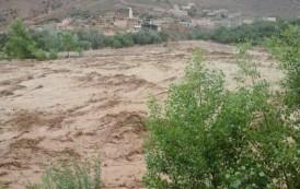صور وفيديو . الفيضانات بتارودانت تودي بحياة 3 أشخاص و تتسبب في عزل قرى وقطع الطرق