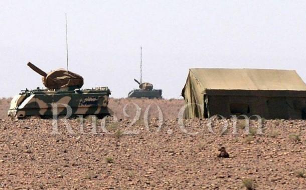 صورة حصرية. وضع عَتَاد الجيش في حالة تأهب بالخط الحُدودي بعد استفزاز رفع أعلام الانفصاليين بالكركرات