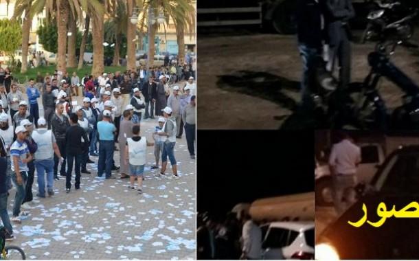 صور .فضائح الـPPS الإنتخابية :الوزير 'الصبيحي' كاد يقتل مواطناً بسيارته ومرشح عن الحزب بالريف تابع خطابه  10 أشخاص