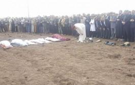 صور . تشييع جنازة 11 شخصاً ضحايا حادثة سير برشيد المروعة دفعةً واحدة في جو مهيب