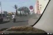 """فيديو . مطاردة هوليوودية لـ""""شفارة"""" على متن دراجة نارية بالبيضاء"""