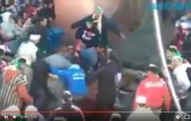 فيديو . الهمجية في أبشع صورها ..مواطنون يفترسون جملاً حياً في موسم مولاي إبراهيم