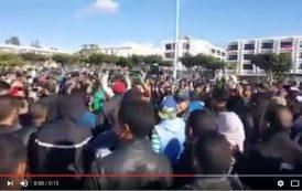 فيديو . إحياءً لـ20 فبراير ..محتجون بأكادير : الشعب يريد إسقاط الفساد