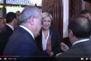 فيديو . 'مارين لوبان' ترفض ارتداء الحجاب في لبنان و تغادر