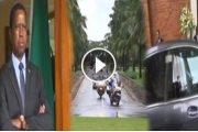 فيديو . لقطة طريفة للرئيس الزامبي وهو ينتظر الملك محمد السادس أمام باب القصر الرئاسي