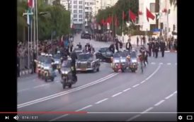 فيديو . اعتراض شخص حاول الوصول إلى سيارة الملك محمد السادس و ملك الأردن