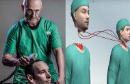 جراحون يستعدون لعملية زرع رأس عالم كمبيوتر في جسم مُجرم