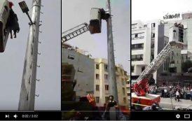 فيديو . إنقاذ سيدة حاولت الإنتحار وسط العاصمة الرباط بعد السطو على أرضها