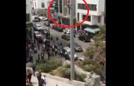 بالفيديو. فتاة تحاول الانتحار من عمود للإنارة بالرباط