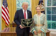 ترامب يستقبل 'لآلة جمالة' سفيرة المغرب بواشنطن