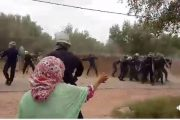 فيديو . مواجهات عنيفة بين الأمن و ساكنة دوار بقلعة السراغنة