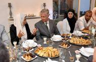 صور. ملك بلجيكا يشارك أسرة مغربية إفطار رمضان بمنزلها