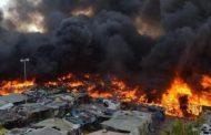 فيديو | حصيلة أولية : حريق مهول يأتي على 100 مسكن صفيحي بعين عودة