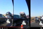 فيديو .حادثة سير خطيرة بالطريق السيار لتيط مليل …شي داخل فشي!