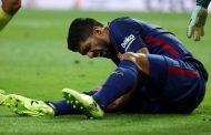 بعد رحيل نيمار. برشلونة يعلن غياب نجمه 'سواريس' لمدة شهر كامل بسبب الإصابة