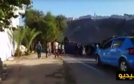 فيديو . انقلاب سيارة تابعة للشرطة وسط الحسيمة