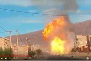 """فيديو . انفجار مروع لشاحنة محملة بـ""""البوطاغاز"""" في تنغير"""