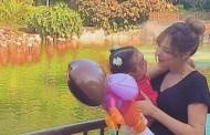 زوجة تامر حسني المغربية تنشر صورة مع ابنتها بالمغرب