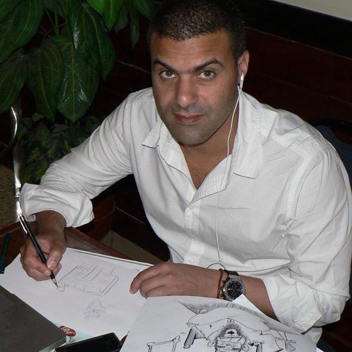 خطير. فنان الكاريكاتور 'خالد كدار' يتعرض للتهديد بالقتل من طرف داعشي مغربي بعد نشره رسم 'ناهض حتر'