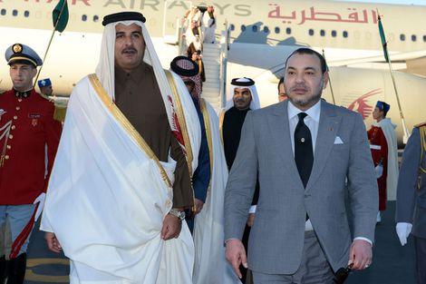 محمد السادس يُشيدُ بأمير قطر ويصف حكمه بالرشيد داعياً لتعزيز وتوسيع مجالات التعاون مع المغرب