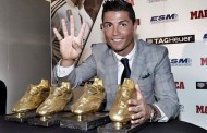 رونالدو يستلم جائزة الحذاء الذهبي كهداف تاريخي لدوريات أوربا للمرة الرابعة