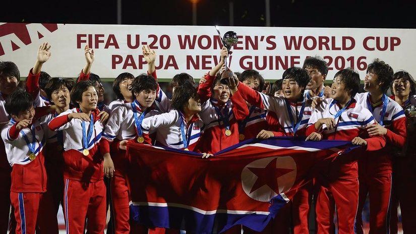 كوريا الشمالية تدخل التاريخ بتتويجها بكأس العالم لكرة القدم للشابات بعد هزمها لفرنسا