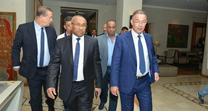 رئيس الكاف 'أحمد أحمد' طلع راجل. دعا جميع الدول الافريقية الى إعلان دعمها للمغرب لاحتضان مونديال 2026