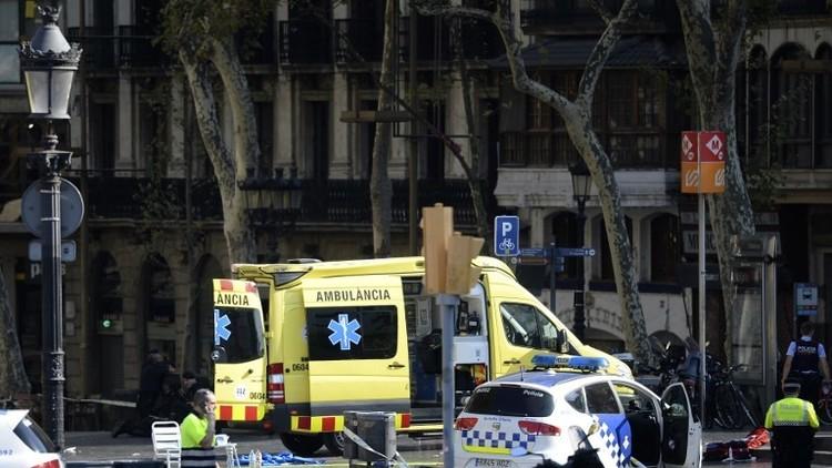 عاجل. هجوم إرهابي ببرشلونة يخلف قتلى وعشرات الجرحى