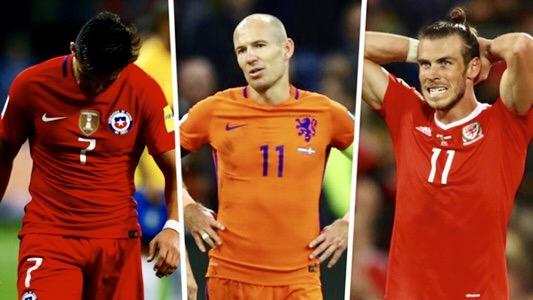 هؤلاء أبرز نجوم الكرة الغائبين عن مونديال روسيا بسبب اقصاء منتخباتهم