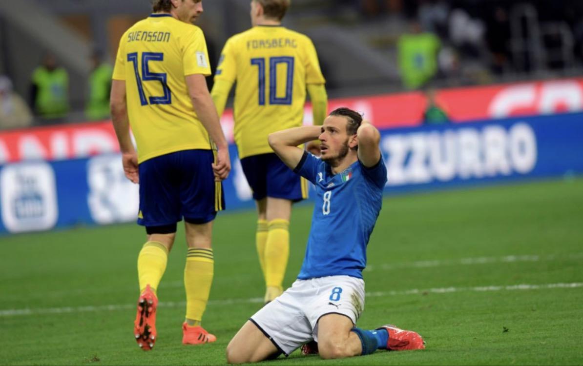 إيطاليا أكبر الغائبين عن مونديال روسيا بعد الإطاحة بها من قبل السويد في الملحق الأوربي