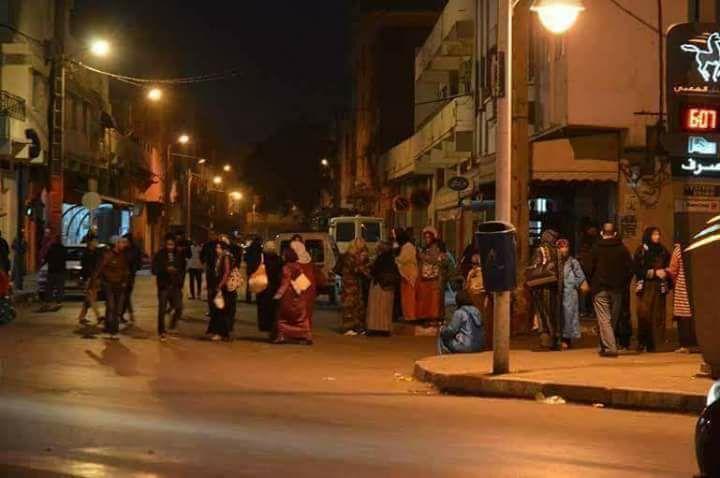 ساكنة إقليم الدريوش تخرج للشوارع بعد هزة أرضية عنيفة كسرت هدوء الليل