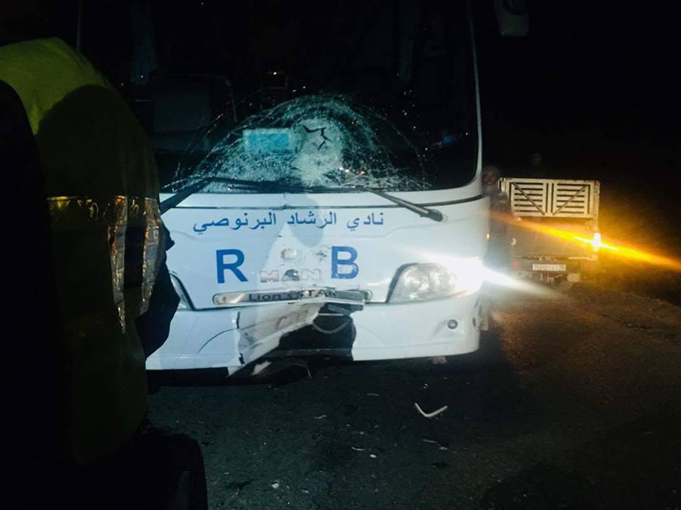 حافلة فريق الرشاد البرنوصي تقتل شاباً في طريق عودتها للدار البيضاء