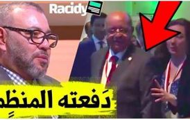 فيديو . استقبال كبير للملك في قمة المناخ بباريس و تحقير لوزير الخارجية الجزائري 'مساهل'