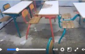 فيديو . مياه الأمطار تتسرب إلى أقسام ثانوية بآسفي