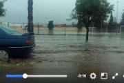 فيديو . السيول تغمر شوارع برشيد و تعرقل حركة السير