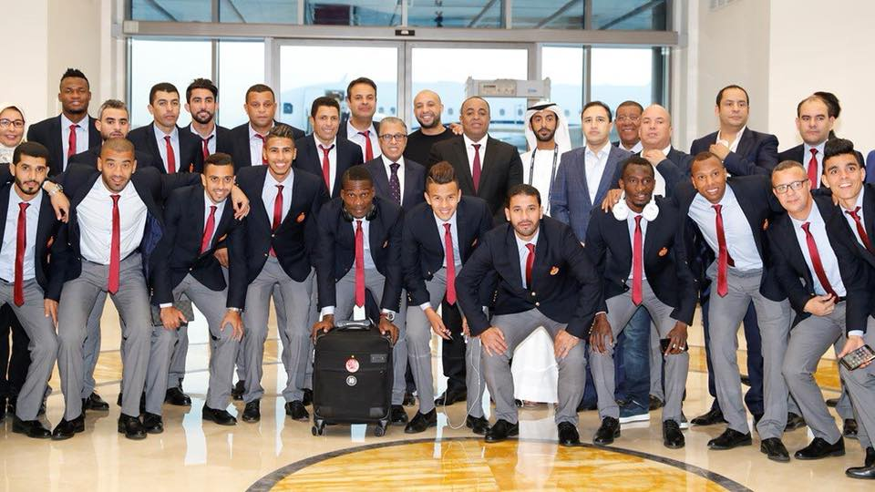 الوداد البيضاوي يصل أبو ظبي لخوض أول مباراة له بكأس العالم للأندية