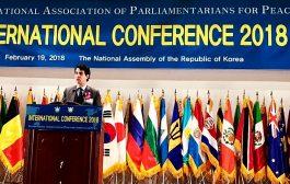 مشاركة ناجحة لـ'عبد المجيد الفاسي' في المؤتمر الدولي للبرلمانيين من أجل السلام بكوريا