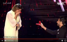 """فيديو   المغني المصري 'حماقي' يتقدم لخطبة مغربية مشاركة في برنامج """"ذي فويس"""" على الهواء"""