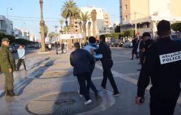 إعتقالات و إصابات في ذكرى حركة 20 فبراير بالناظور
