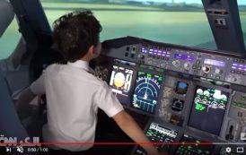 فيديو . طفل معجزة مغربي يقود طائرة إيرباص عملاقة !