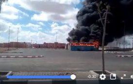 فيديو | احتراق 6 حافلات تابعة لشركة الطاقة الشمسية بالدشيرة قرب العيون