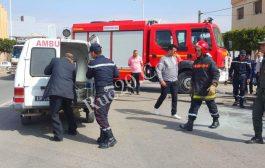 مختل عقلي يضرم النيران في جسده وسط العاصمة الرباط